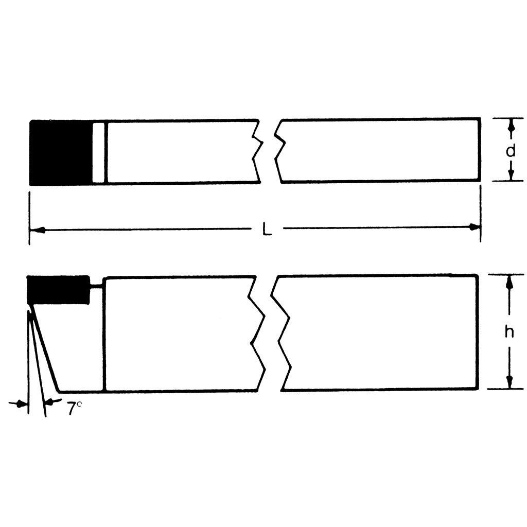 E-4 Grade C2 60 Degree Carbide Tipped Tool BIT