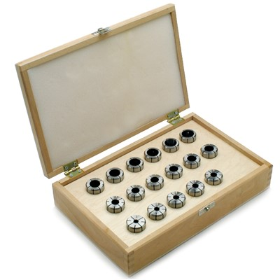 DA100 Collet Set,11Pc 1/4-9/16inx32nds