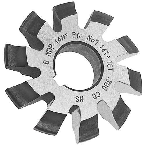 Involute Gear Cutters, 14-1/2 Degree Pressure Angle